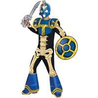 Boy Skylanders Chop Chop Costume Jumpsuit W Shoe Covers Mask Child Small 4 5 6