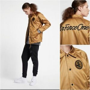 Details about NIKE SPORTSWEAR AIR FORCE ONE VARSITY JACKET BRONZE AH8515 255 MD LG 2XL NWT