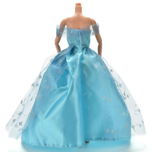 Dress for  Blue Dress with Butterfly Decoration Doll Beautiful Dress WD