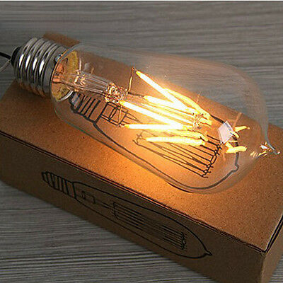 ST64 E27 110V 220V Dimmable LED Filament Bulb 4W Edison Type 2700K Warm White