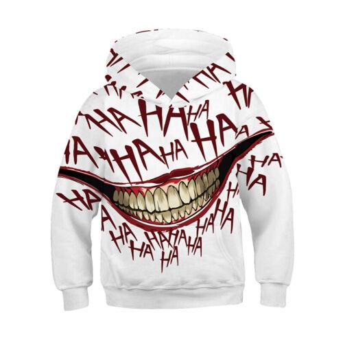 3D Printed Venom Kids Unisex Hooded Sweatshirt Hoodies Pullover Jumper Coat Tops