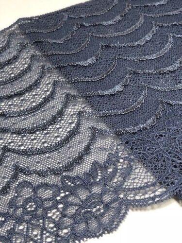 "laverslace Beautiful Slate Grey Eyelash Wide Stretch Tulle Lace Trim 7.25/""//18cm"