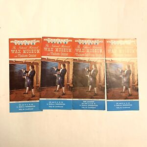 DISTRICT OF COLUMBIA Brochure National Historical Wax Museum 1960