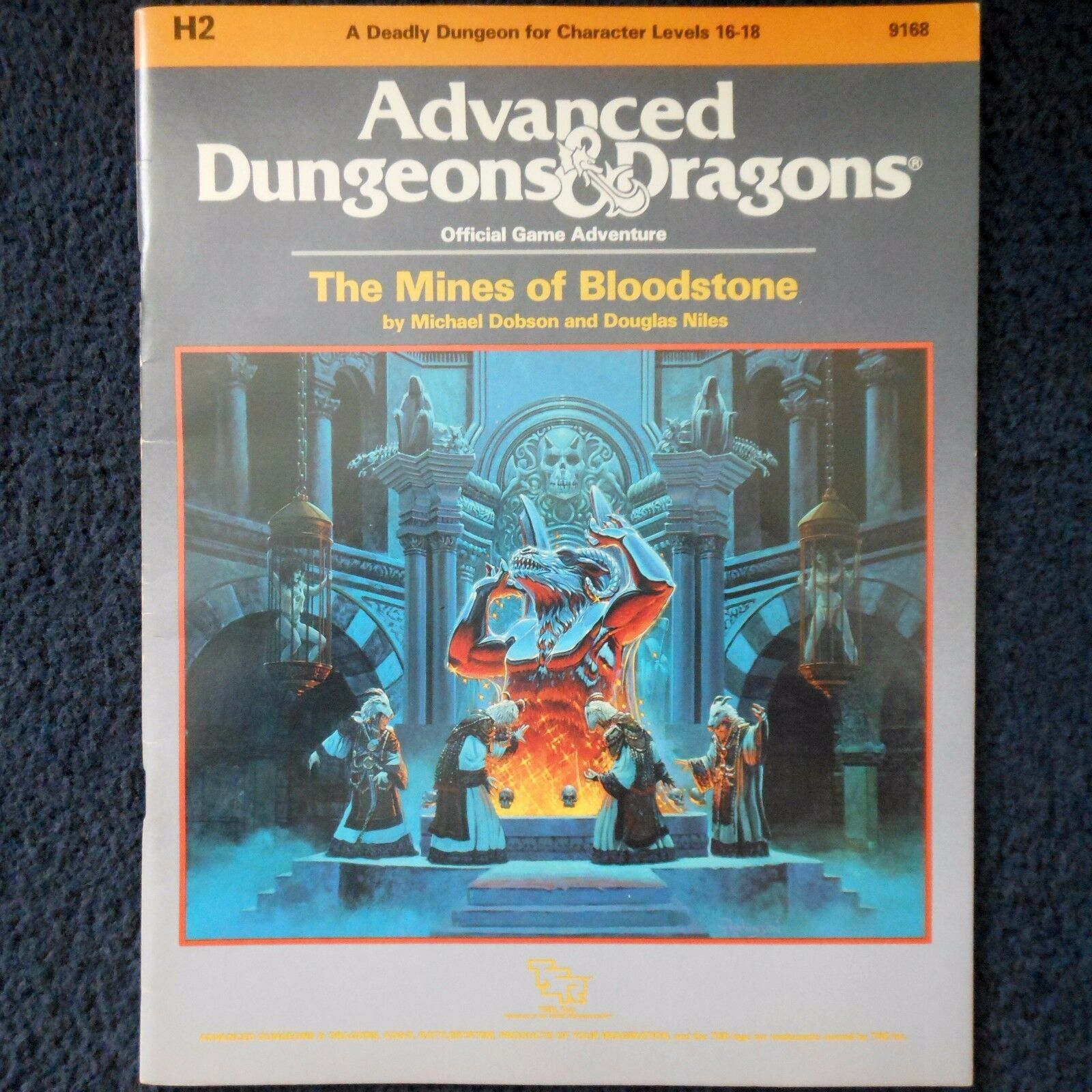 H2 The Mines of Bloodstone Advanced Dungeons & Dragons Adventure Module D&D 9168