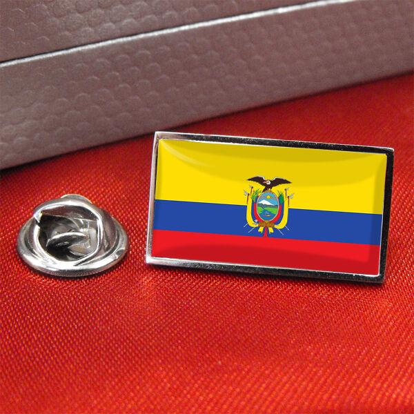 Ecuador Distintivo Di Bandiera Lapel Pin/Fermacravatta