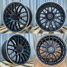 18x8 42 5x112 Matt Black Machined Tip Wheels Rims Fits Mercedes Benz Set Of 4