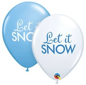 "5 x Let It Snow 11"" Biodegradable Latex Balloons."