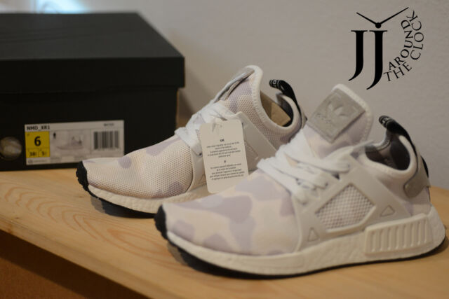b8d1a17d5bbca New Adidas NMD XR1 Primeknit White Duck Camo White Grey XR1 NMD BA7233 SIZE  6