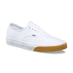 Details about VANS AUTHENTIC MENS VN0A38EMQ8R GUM BUMPER TRUE WHITE