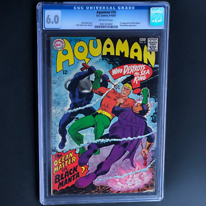 AQUAMAN-35-DC-1967-CGC-6-0-1ST-APP-BLACK-MANTA-Only-638-in-CGC-Census