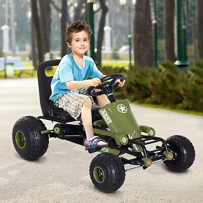 Go Kart Coche de Pedales Karts Deportivo para Niños Silla Ajustable con Freno