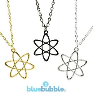 Bluebubble-CRAZY-SCIENCE-Atom-Necklace-Cute-Kitsch-Geek-Symbol-Nerd-Funky-Fun-UK