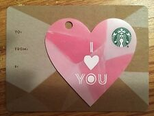 """HTF Starbucks Valentine's Mini """"I LOVE YOU"""" Gift Card NO $ VALUE"""