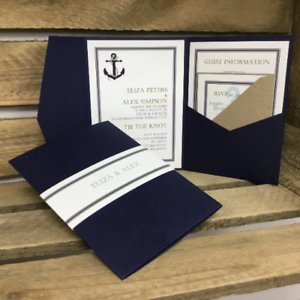 Make Your Own Invites Diy Wedding Invitations Personalised Pocket