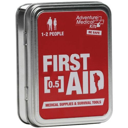 Great For Camping /& Outdoors First Aid Tin With Supplies