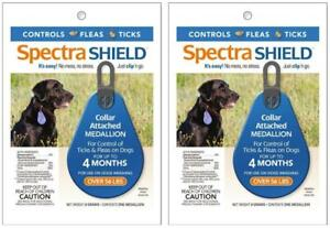 2-Pack-Spectra-Shield-Flea-amp-Tick-Controll-Collar-Medallion-Dogs-Over-56-lbs
