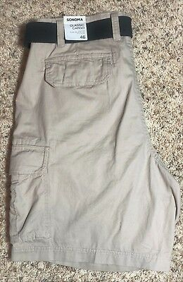 Men/'s Big /& Tall Sonoma Goods For Life Solid Twill Shorts NWT Size 46