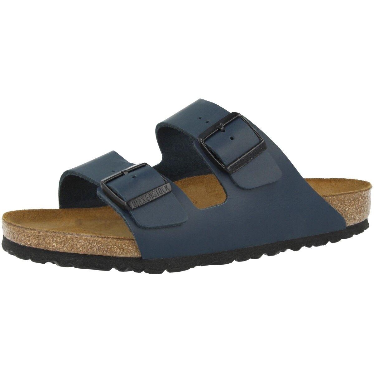 Birkenstock Arizona Glattleder Weite Schuhe Blau 051151 Sandalen Weite Glattleder normal Boogie 4984dd