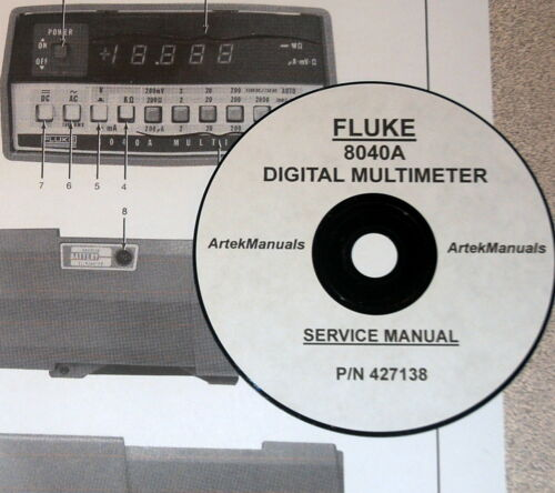 Business & Industrial FLUKE SERVICE MANUAL for the 8040A DIGITAL ...
