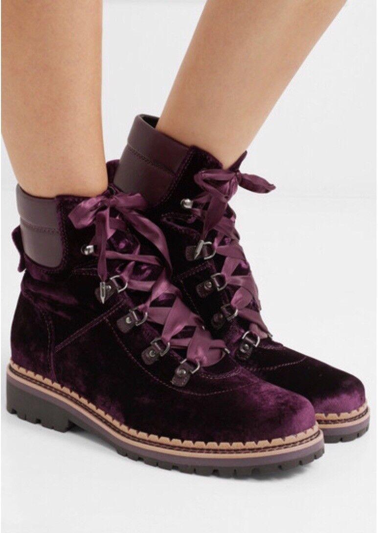 SAM EDELMAN Browan Samt-Leder Ankle Stiefel Größe 38,5 Top Top Top Zustand 9e6262