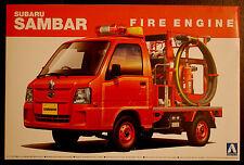 Subaru Sambar Fire Engine Feuerwehr Löschfahrzeug, 1:24, Aoshima 014172