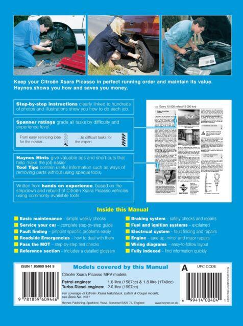 haynes 3944 citroen xsara picasso 2000 to 2002 petrol diesel rh ebay com Yamaha Service Manuals PDF Yamaha Service Manuals PDF