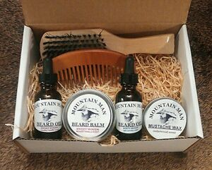 mountain man oils beard oil deluxe beard grooming gift set ebay. Black Bedroom Furniture Sets. Home Design Ideas