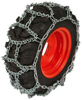 9.5-18 Small Tractor H-pattern 7mm V-bar Link Tire Chains Snow Blower Ice