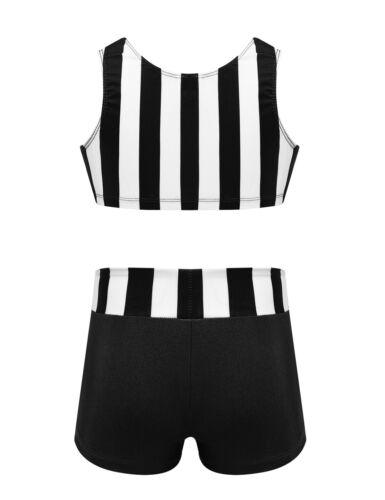Girls Kids Ballet Dance Dress Gymnastics Leotard Dancing Tutu Top+Shorts Clothes
