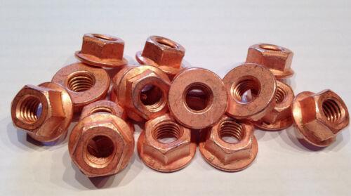 Ansaugkrümmer /> 16 Stück Turbo Auspuff M8 Kupfermutter  SW13 für Krümmer