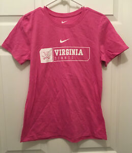 New UVA Cavaliers Women's Tennis Team Issued Nike Athletic Cut T-Shirt Medium