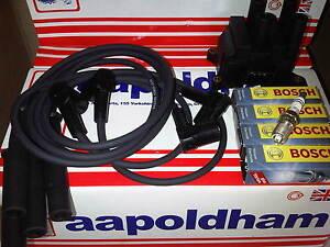 Ford-Ka-1-3-1-3-Encendido-Ht-conduce-Set-Bobina-De-Encendido-Pack-amp-bujias-1999-02
