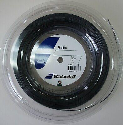 Babolat RPM Blast 17 1.25mm 660ft 200m Reel Tennis Black String Octagonal NADAL