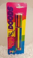 Vintage Lisa Frank Square Doods Pen 3 Pack In 90's Multi-color Neon Rare