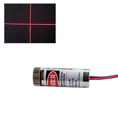 1Pcs New 650nm 5mw Red Laser Cross Module Metal Body Adjustable Laser Head