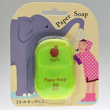 [CHARLEY SOAP] Apple Scented Travel Size Pocket Paper Soap 50 Sheets NEW