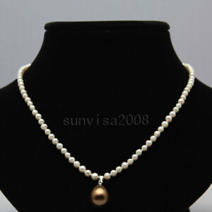 Real-4-5mm-natural-round-freshwater-cultured-white-pearl-necklace-pendant-17-034-2