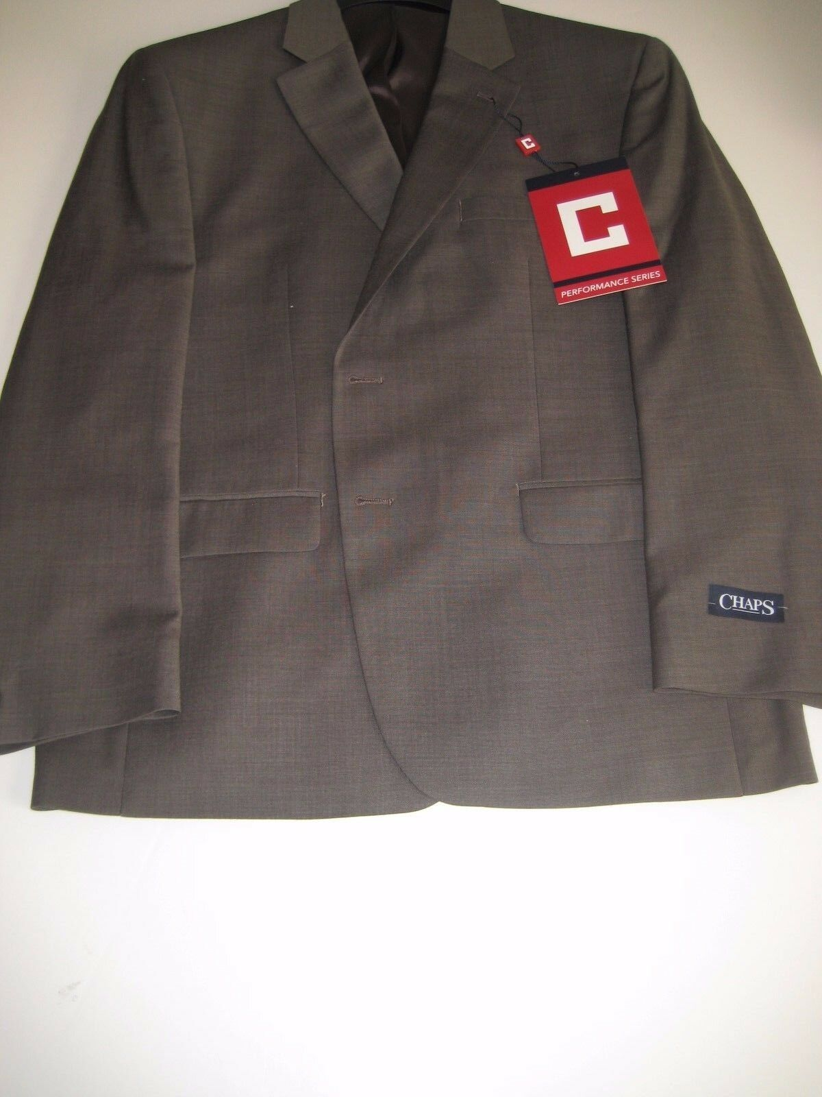 CHAPS COMFORT FIT WRINKLE RESISTANT  STRETCH SUIT SEPARATES 44S Light Brown