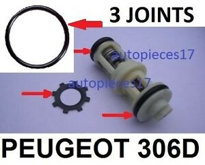 KIT-3-JOINTS-CLIPS-REPARATION-PANNE-SUPPORT-FILTRE-GASOIL-PEUGEOT-306-DIESEL