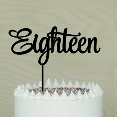 Admirable 18Th Cake Topper Happy 18 Eighteen Birthday Cake Decor 1 Funny Birthday Cards Online Elaedamsfinfo