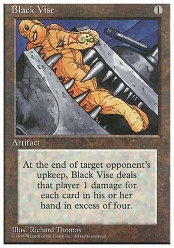 1x Black Vise 4th Edition MtG Magic Artifact Uncommon 1 x1 Card Cards MP