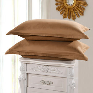 Cotton-Solid-Color-Standard-Queen-Size-Bedding-Pillow-Covers-Cases-Pillowcases