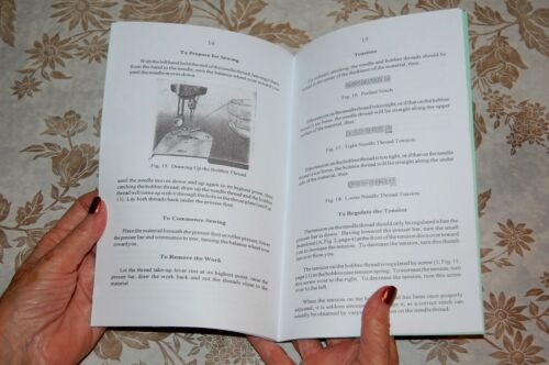 Using and Adjusting Instructions Manual for Singer Class 16 Sewing Machines