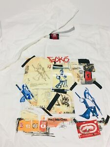ECKO-UNLTD-L-S-034-StoryBoard-034-sz-XL-XLarge-Mens-Graphic-T-Shirt-White-OOP-NEW-NWT