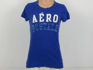 Purple-short-sleeved-Aeropostale-t-shirt-size-M-w-white-and-sparkle-letters