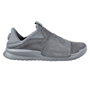 Nike Benassi Slip On Mens Shoes 882410-004 Athletic Grey Suede Shoes Mens 4d9e59