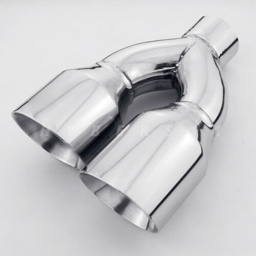 "1 Pair QUAD 4/"" Outlets Stainless Steel Exhaust Tips 2.5/"" ID for AUDI S3 S4 S5 S6"
