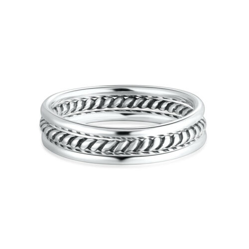 1.2mm Simple 925 Sterling Silver Midi Thin Stackable Stacking Knuckle Band Rings