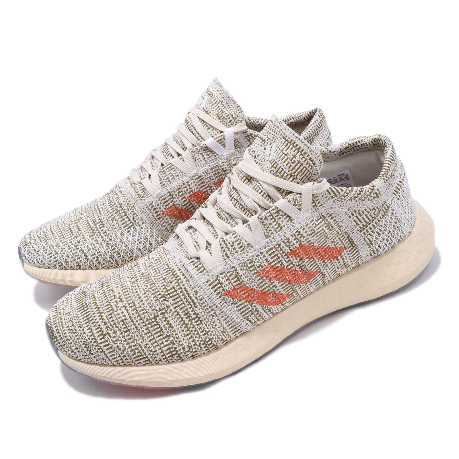 Adidas Pureboost Go LTD Raw White orange Trace Cargo Men Running shoes D97424