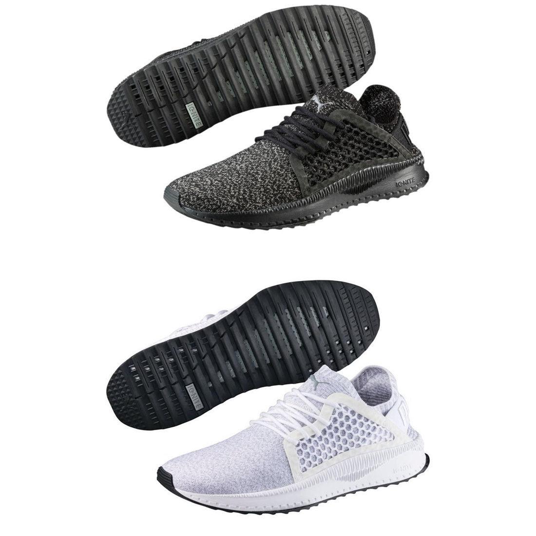 Puma TSUGI Netfit Evoknit Mens Trainers Shinshei Cage Black Olive White shoes